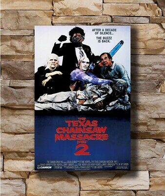 Hot THE TEXAS CHAINSAW MASSACRE Part 2 Movie Horror Leatherface Poster T-1763