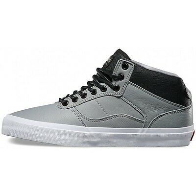 d61912d7e3 Vans Off the Wall OTW Bedford Bomber Gray White Shoes Mens 6.5 Leather Sk8  NEW