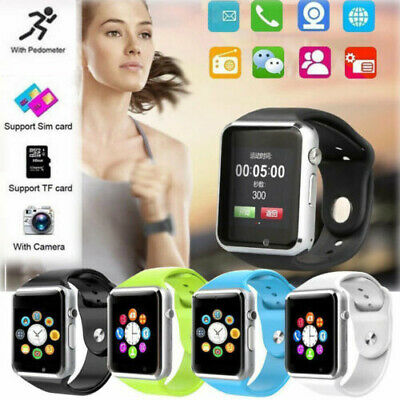 Women Men Bluetooth Smart Wrist Watch GSM Phone For iPhone Samsung Huawei