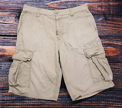 ebf32f823c LRG Lifted Research Group Classic C47 Fit Mens Shorts Cargo Khaki Cotton  Size 34