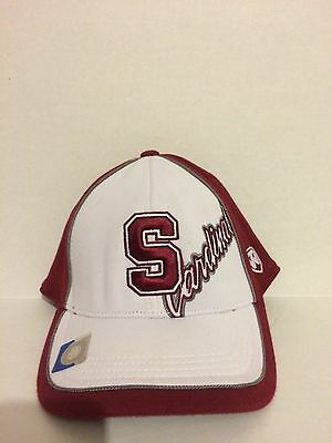 hot sale online a14ec fcdef Stanford Cardinal Top of the World Squall Stretch fit hat OSFM White Maroon