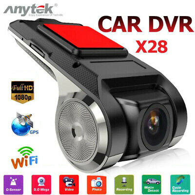 Anytek X28 FHD 1080P 150° Dash Cam Car DVR Camera Recorder WiFi ADAS G-sensor