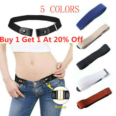 Buckle Free Stretchy Elastic Waist Belt Invisible Belt Waist for Jeans/Dress HOT