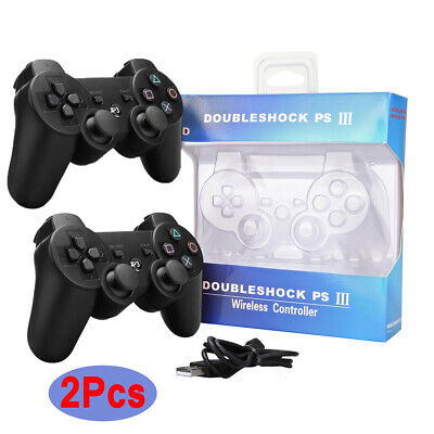 1/2x PS3 Wireless Controller Dualshock 3 Games Remote Bluetooth Sixaxis Gamepad