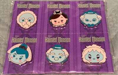 Disney Parks Pins The Haunted Mansion Tsum Tsum 6 Pin Set Booster Pack NEW