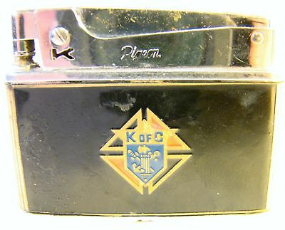 Vintage Pigeon Automatic Super Lighter K of C Knights of Columbus Sparking Well