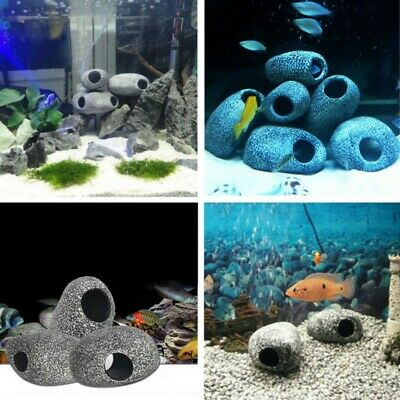 Aquarium Cichlid Stone Cave Fish Tank Pond Ornament Shrimp Breeding Decoration