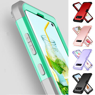 Armor Hybrid Heavy Duty Shockproof Rubber Hard Case Cover For Samsung Galaxy S10