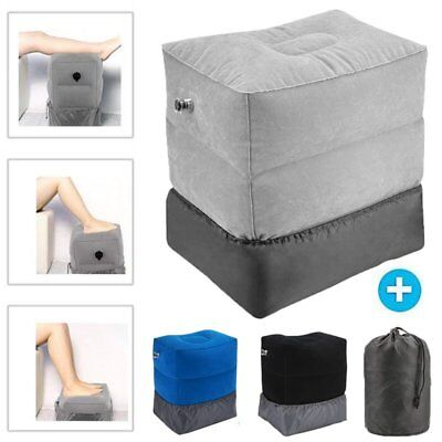 Inflatable Office Travel Footrest Leg Foot Relax Cushion Pillow Pad Kids Bed US