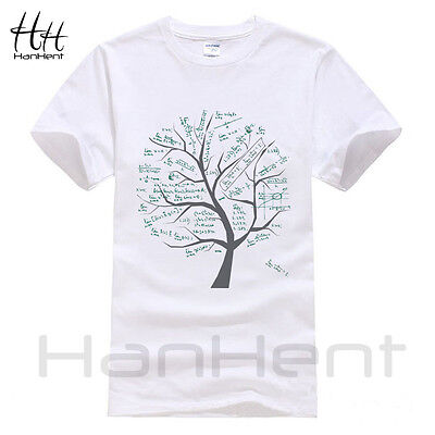 Mathematical Math Formula Tree Printed T Shirt Short Sleeve Summer Style Tshirt