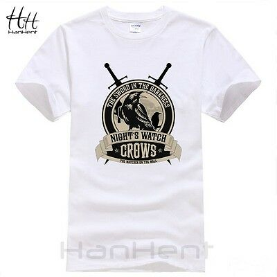 c4a012287 Men Summer Fashion T Shirts Game of Thrones Nights Watch Crows T-shirts