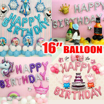 Happy Birthday Letters Foil Balloon Birthday Party Decorations Banner