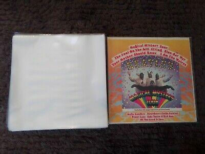 "250 New Premium Thick Lp / 12"" Plastic Outer Record Cover Sleeves For Vinyl"