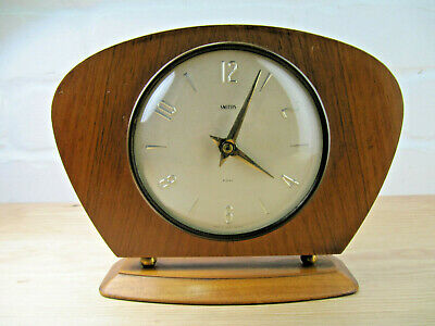 Vintage Retro Smiths Mantel Clock, 8 Day Floating Balance, Working