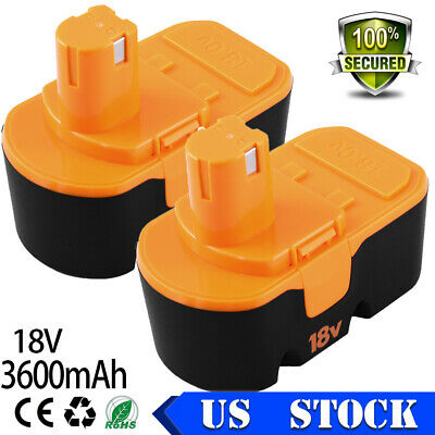 3.6Ah for Ryobi 18V Battery Replacement 18 Volt ONE+ P100 P107 P102 P104 P105