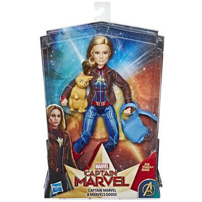 Hasbro Captain Marvel Movie Captain Marvel Doll with Goose - E4944