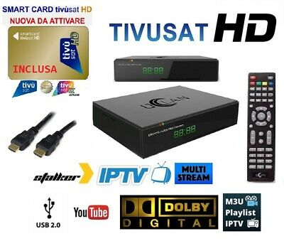 Tv Sat Decoder + Tessera Tv Sat Gold Hd Lan Pvr Youtube Tv