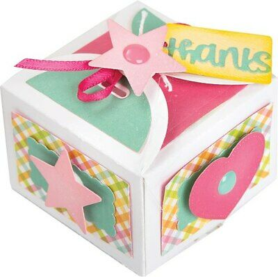 Sizzix Thinlits Dies Lori Whitlock Favor Box W/Thanks 10 Stanzschablonen Box