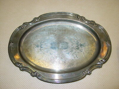 Large Silver Plated Ornate Tray