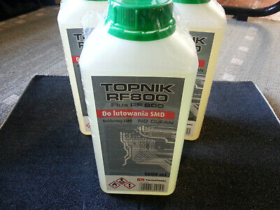 RF800 Liquid Soldering Flux, BGA/SMD/SMT/RMA Rework, 60ml bottle with brush