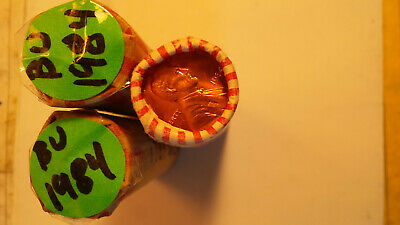 Three Uncirculated rolls of Lincoln Memorial Cents. 1984-P.