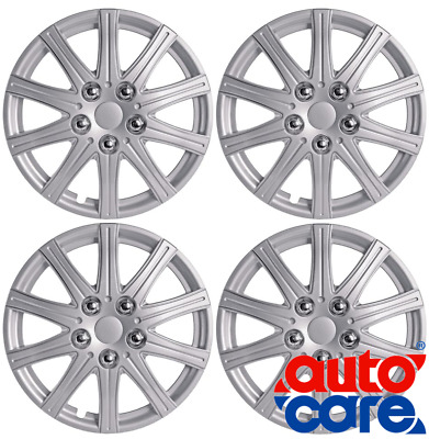 """4 13Inch (13"""") Alloy Look Car Wheel Trims/Covers/Silver 13"""" Hub Caps - Set Of 4"""