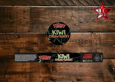 10x Snergy Kiwi Strawberry 100ml Cali Tin labels