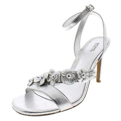 31034631e1 MICHAEL Michael Kors Womens Silver Dress Sandals Shoes 9 Medium (B,M) BHFO