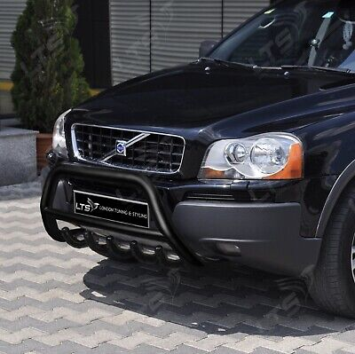 Volvo Xc90 Stainless Steel Black Axle Nudge A-Bar Bull Bar Guard 2004-2014