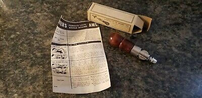 Vintage Myers Famous Lock Stitch Sewing Awl Patent No. 2060349 IOB