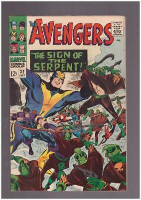 Avengers # 32  The Sign of the Serpent !  grade 8.5 scarce book !