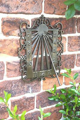 Antique Brass Astral Wall Mounted Garden Sundial