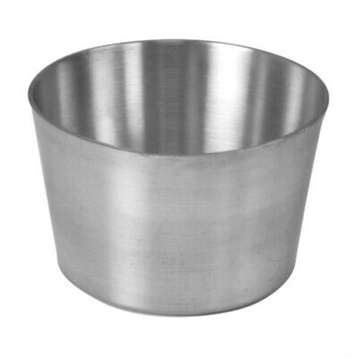 6 x Stainless Steel Presentation Plain Serving Cups Restaurant Catering 8 x 8cm