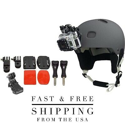GoPro Helmet Mount Bundle With Adhesive Pads For GoPro Hero 3,4,5,6,7 + Session