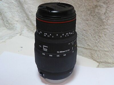 Sigma APO DG  Macro 70-300mm AF Telephoto Zoom Lens for Nikon With F Cap