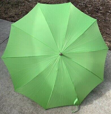 Vintage Miss George Green Umbrella Parasol
