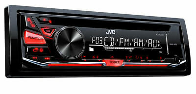 JVC KDR370 Single 1-DIN Car MP3 Stereo CD Player Receiver with Aux in | KD-R370