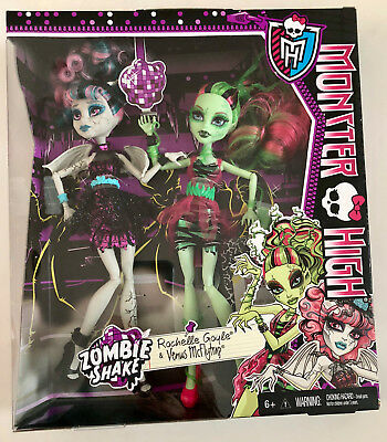 MONSTER HIGH Zombie Shake Rochelle Goyle & Venus McFlytrap Dolls NIB NEW