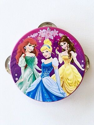 Disney Princess Cinderella Belle Ariel Pink Tambourine Musical Toy Girls