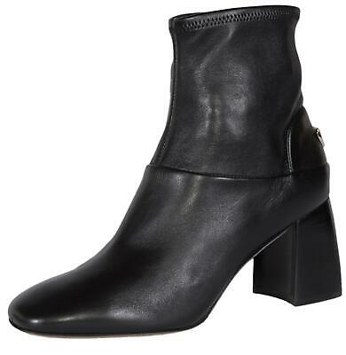 2f1c0b51ae76 NEW Tory Burch Black Stretch Nappa Leather Sidney T Logo Ankle Boots Shoes  SZ 9