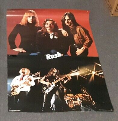 Permanent Waves Rush poster 1980 used 24 x 36.5 rare DISCOUNT PRICED QUICK SALE