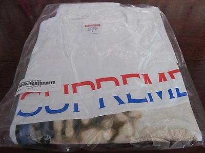 2f0409debb8 SUPREME NY. BARRINGTON LEVY White T-SHIRT NEW LARGE BOX LOGO Reggae Gucci  Mane