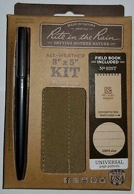 """Rite in the Rain All Weather 3""""x5"""" Note Book, 935T KIT ~ NEW ~"""