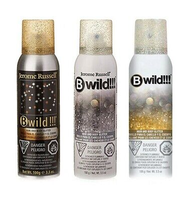 Jerome Russell B Wild Hair and Body Glitter Spray 3.5 oz (Choose from 3 Colors)