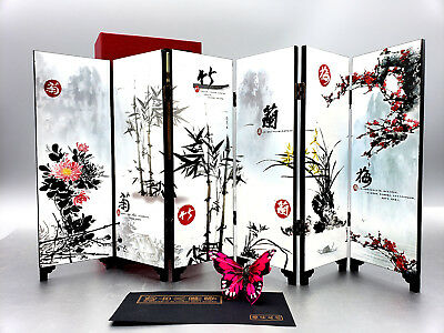 Chinese Screen of an Ancient Asian Garden Small 2 Sided Boxed