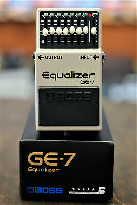 Boss GE-7 7 Band EQ Equalizer Guitar Pedal- NEW Free US Shipping