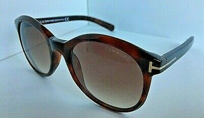 78d4fc7ae4f8b TOM FORD TF298 50F Riley Brown Havana Gradient Authentic Sunglasses ...