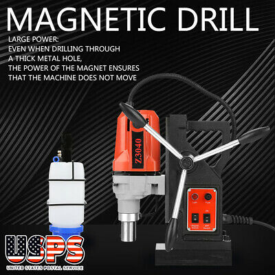 1100W Z3040 Magnetic Base Drill Press 19mm Boring 12000N Magnet Force Tapping US