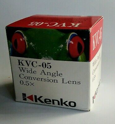 KENKO KVC-05 Wide Angle Conversion Lens 0.5X  in original Box Made in Japan  #53