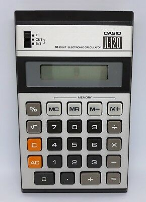 Vintage 80 Casio Jl120 Wholesale Button Classic Japan to 10 Numbers Calculator